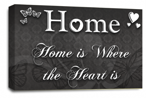 Home Quote Wall Art Picture Grey White Love Print